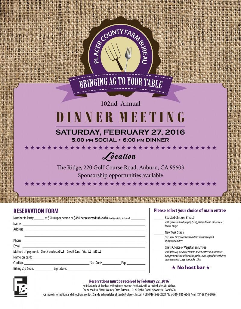 2016 Dinner Meeting Flyer